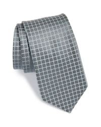 Michael Kors | Gray 'griddle Neat' Check Silk Tie for Men | Lyst