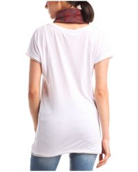 BOSS Orange - White T-shirt 'tamesh' In Cotton Blend - Lyst