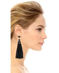 Kenneth Jay Lane | Black Beaded Tassel Earrings | Lyst