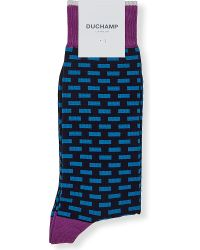 Duchamp | Obli Geometric-print Socks, Men's, Blue for Men | Lyst
