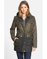 MICHAEL Michael Kors | Black Two Tone Waxed Cotton Anorak | Lyst