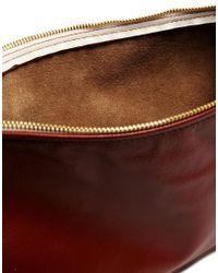 American Apparel - Brown Leather Clutch in Brick - Lyst