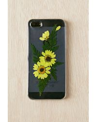 Urban Outfitters | Yellow Pressed Flower Iphone 5/5s Case | Lyst
