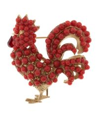 Dolce & Gabbana - Red Cockerel Brooch - Lyst