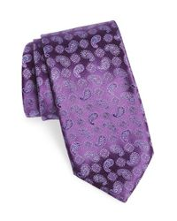 Canali | Purple Floral & Paisley Silk Tie for Men | Lyst