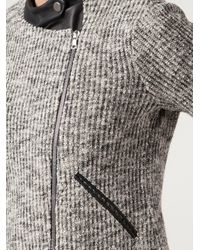 Yigal Azrouël | Gray Space Knit Jacket | Lyst