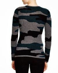 Aqua | Gray Cashmere Camo Crewneck Sweater | Lyst