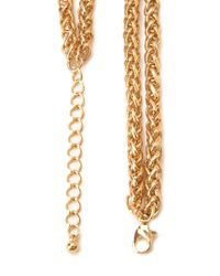 Forever 21 - Metallic Faux Stone Chain Necklace - Lyst