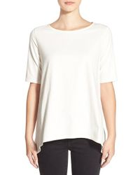 Madewell - Natural Laurel Jersey Swing Top - Lyst