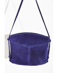 Kimchi Blue - Blue Suede Crossbody Bag - Lyst