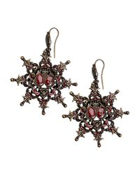 Alberta Ferretti | Red Earrings | Lyst