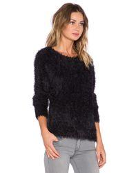 Generation Love | Black Fuzzy Knit Pullover | Lyst