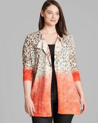 Marina Rinaldi | Orange Plus Margaret Knit Cardigan | Lyst