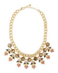 Lydell NYC - Metallic Rhinestone-Cluster Bib Necklace - Lyst