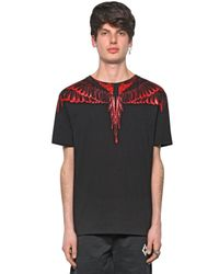 Marcelo Burlon - Black Rio Negro Printed Cotton Jersey T-shirt for Men - Lyst