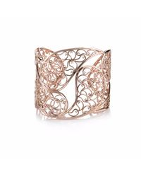 Sonal Bhaskaran | Metallic Amer Rose Gold Cuff Clear Cz | Lyst
