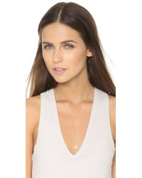 Chan Luu | Freshwater Cultured Pearl Lariat Necklace - White Pearl | Lyst