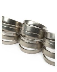 Faith Connexion - Metallic Set Of Five Stacked Rings - Lyst