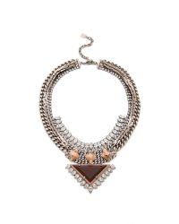 DANNIJO | Multicolor Joss Necklace Silvercrystaldual Nude | Lyst