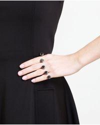 Gaydamak | Black 18k Oxidised Gold, Onyx And Diamond Ring | Lyst