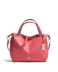 COACH - Natural Smythe Satchel In Leather - Lyst
