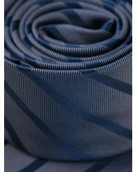 Giorgio Armani | Blue Striped Tie for Men | Lyst