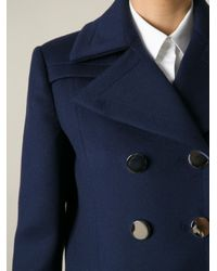 Gucci - Blue Double Breasted Coat - Lyst