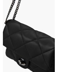 Mango | Black Quilted Cross-body Bag | Lyst