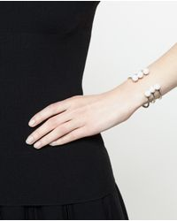 Maria Stern - Metallic Triple Pearl Horseshoe Bracelet - Lyst
