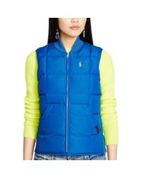 Polo Ralph Lauren - Blue Reversible Full-zip Down Vest - Lyst