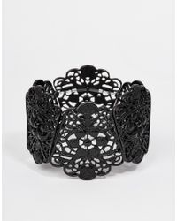 Oasis | Black Lace Stretch Bracelet | Lyst