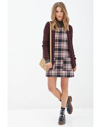 Forever 21 - Multicolor Plaid Shift Dress - Lyst