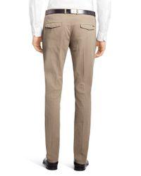 HUGO | Natural 'helgo-d' Cotton Blend, Regular Fit Chinos for Men | Lyst