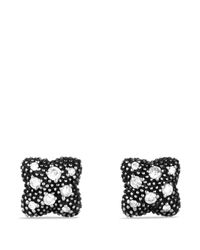 David Yurman | Metallic Quatrefoil Earrings With Diamonds | Lyst