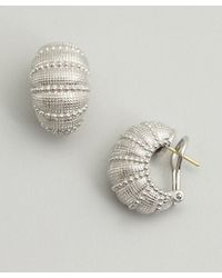 Judith Ripka - Metallic Silver Concorde Shrimp Earrings - Lyst