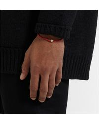 Luis Morais - Red Yellow Gold And Bead Bracelet for Men - Lyst
