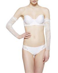 La Perla | White Neoprene Desire Gloves | Lyst