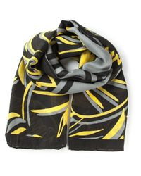 KENZO - Yellow Big Monster Wool Scarf - Lyst
