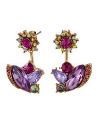 Betsey Johnson - Multicolor Fall Follies Flower Front/back Earrings - Lyst