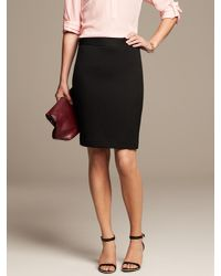 Banana Republic - Black Tonal Texture Pencil Skirt - Lyst