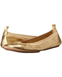 Yosi Samra - Samantha Metallic Perforated Folded Up - Lyst