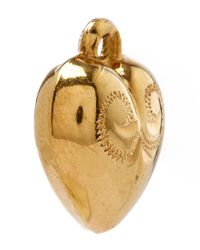Annina Vogel - Metallic Gold Little Puff Heart Charm - Lyst