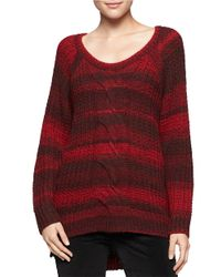 Calvin Klein Jeans | Red Ombre Cableknit Sweater | Lyst