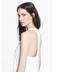 Mango - Natural Cotton T-shirt - Lyst