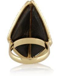 Kimberly Mcdonald - Green 18karat Gold Uvarovite Garnet and Diamond Ring - Lyst