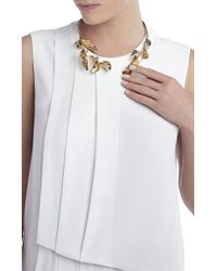 BCBGMAXAZRIA - Metallic Leaf Collar Necklace - Lyst