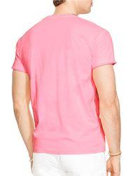 Polo Ralph Lauren   Pink Classic-Fit Neon Jersey Pocket Crewneck for Men   Lyst