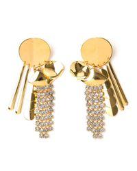 Lizzie Fortunato - Yellow Souk Disk Tassel Earrings - Lyst
