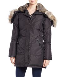 Pajar | Black Brooklyn Real Fur Trim Down Parka | Lyst