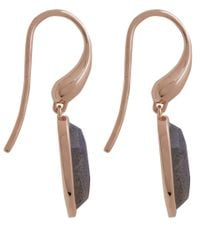 Monica Vinader - Pink Rose Gold-plated Labradorite Vega Drop Earrings - Lyst